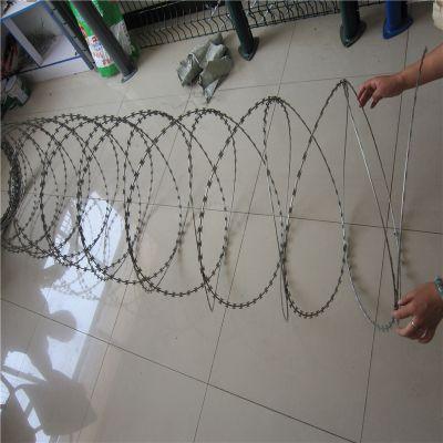 学校防爬网 镀锌刀片刺网 机关单位军事隔离区防爬网 圆圈