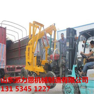 安徽阜阳公路护栏打桩机装载式公路护栏打桩机高速路地基加固-派力恩