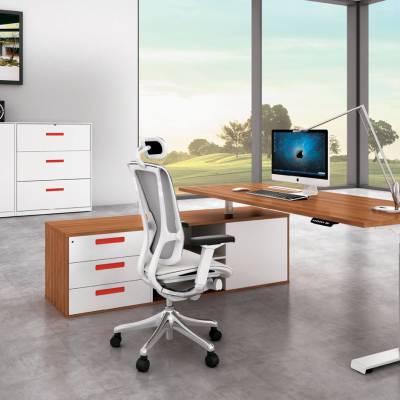 天津华泰圣瑞办公家具厂家销售简约环保老板桌升降桌