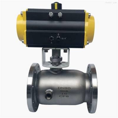 可诺泵阀BQ641F气动夹套保温球阀结构图