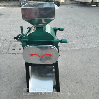 佳民 高产量电动豆扁机花生高粱破碎机 黄豆黑豆挤扁机