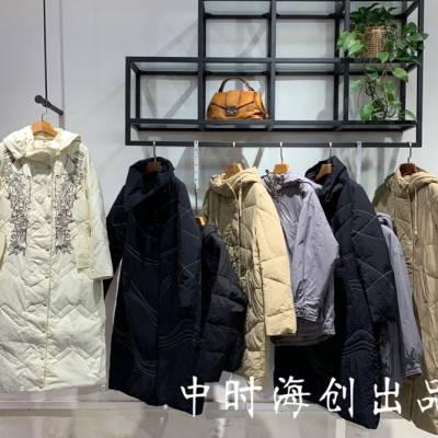 琼珑一派女装折扣长款羽绒服休闲时尚宽松版型设计抢手货