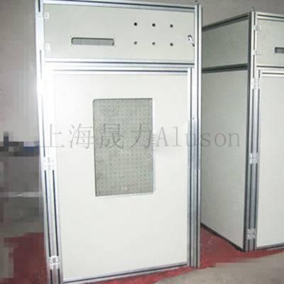监控设备机架定制厂家上海晟力Aluson护栏生产设备