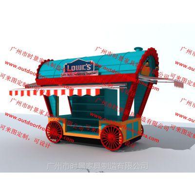 户外零售花车,移动欧式商铺,景区售票亭,主题公园小吃售货车