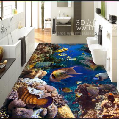 小溪流水鲤鱼金刚石3D地砖产品性价