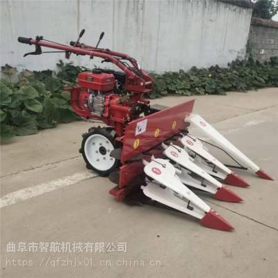 智航牌小麦谷子收割机 蔬菜基地辣椒收割机 手扶柴油动力玉米割晒机厂家
