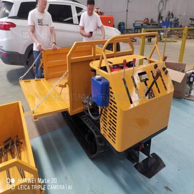 履带式拖拉机销售 1.2吨果园履带运输车 农用履带运输车经销