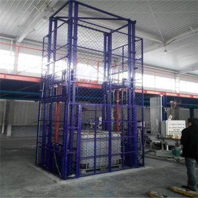航天导轨式升降货梯 仓库简易升降货梯 载货货物电梯 厂家直销