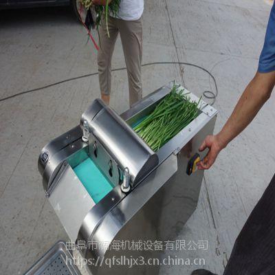河南药材蒲公英艾草切段机 双头变频土豆萝卜去皮切片切菜机 澜海厂家
