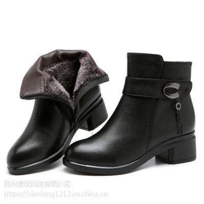 领啦网爆款***案例一时尚中跟中年皮棉鞋免费试用