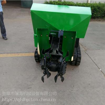 澜海机械厂家直销转向灵活履带式开沟机 开沟旋耕功能齐全除草机