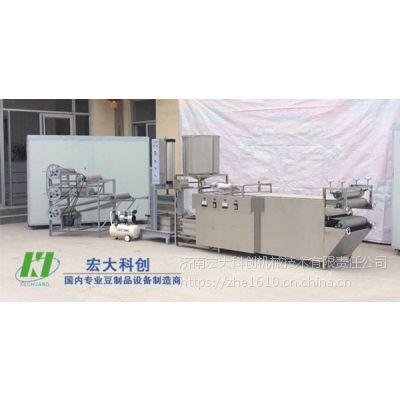 家庭作坊式小型豆腐皮机|自动豆腐皮机生产线|宏大 购机包教技术