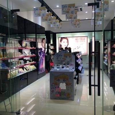 化妆品展柜定做木质烤漆柜台货柜厂家高档化妆品店展示柜陈列柜