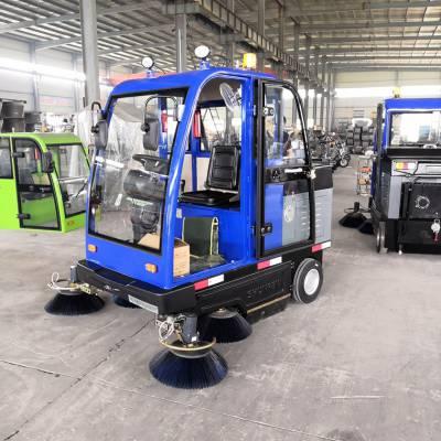 新能源电动扫地车 全封闭多功能电动扫地车机场物业小区用