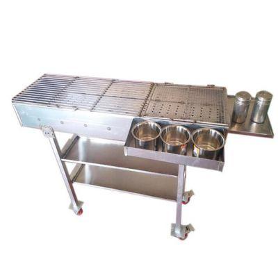 摆摊专用烧烤架子尺寸 焊接烧烤架子尺寸 户外烧烤炉子便携式