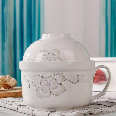 景德镇陶瓷拉面碗 学生泡面陶瓷保鲜碗 微波炉适用
