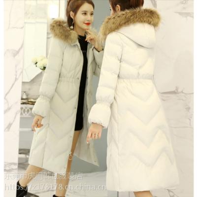 便宜女士羽绒服秋冬加厚长款女装棉服哪里有低价库存处理广东杂款呢子大衣批发