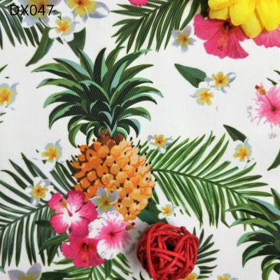 厂家直销数码印花布 防水复合花朵印花帆布 鞋材手袋购物袋抱枕