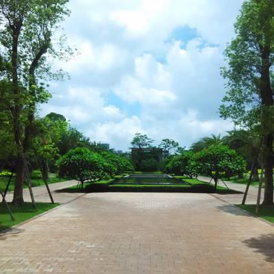 私家庭院_花园景观工程承包_佛岭景观