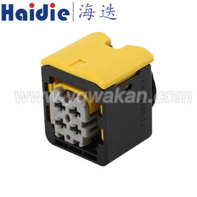 乐清海迭线束接插件4芯防水TE泰科汽车连接器2-1418390-1