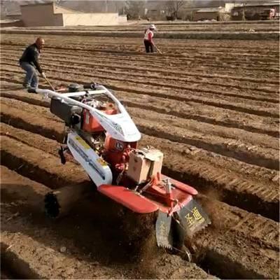 性能优越手扶开沟机自走式农田起垄开沟机小型葱姜草莓起垄培土机