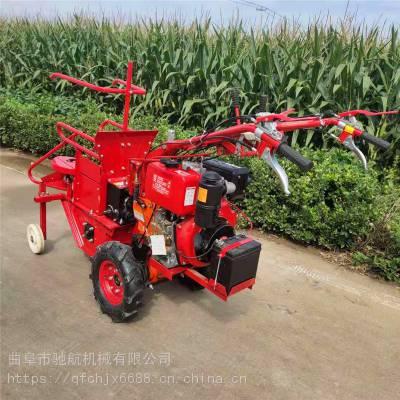 亚博国际真实吗机械 家用汽油玉米收获机小型手扶玉米收割机 新款自走式玉米收获机