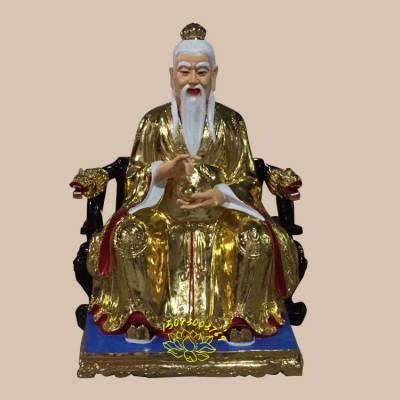 佛像吊坠太白金星 2米太上老君三清神像彩绘贴金河南众缘佛像批发