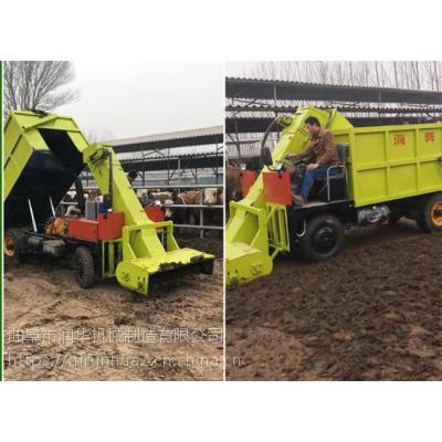 自动化牛场清粪车 18马力柴油三轮式清粪车 养牛场专用刮粪车