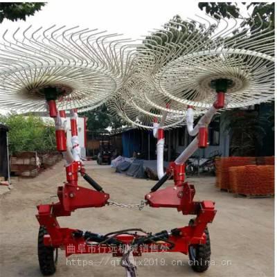 圆盘式搂草机 液压升降型大型收草设备 秸秆收集机 垄沟秸秆回收机