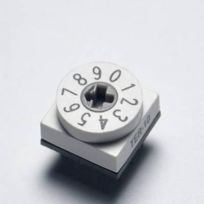 韩国进口旋转编码开关断路器旋扭开关工业电器0-9位拨码开关