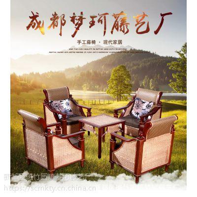 成都藤椅厂家定制茶楼藤椅C-158雅庭椅休闲藤家具批发竹藤家具