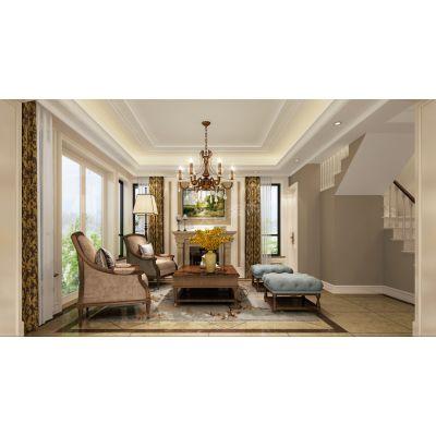 华宇御澜湾装修,渝北天古装饰别墅设计,重庆天古装饰美式古典风格设计案例