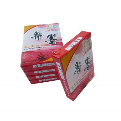 红鲁墨工厂直销太湖县高档A4复印纸70g全木浆环保双面打印纸