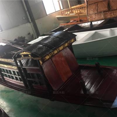 山东泰安木船厂家定制16米仿古嘉兴红船
