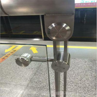 供应304不锈钢地铁站专用楼梯立柱 地铁玻璃防护栏杆 质量保证