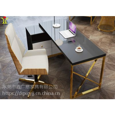 学习桌椅简约现代书房家具定做找鑫广意家具公司