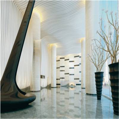 幕墙波浪形铝方通美丽装饰效果