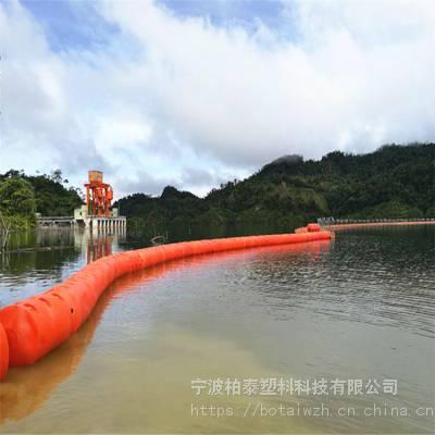 海湾取水口拦污浮筒 福鼎海上拦垃圾塑料浮体