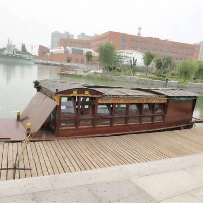 山东临沂木船厂家定制2米防腐景观红船