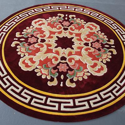 新式客厅茶几卧室满铺床头地毯新西兰羊毛地毯手工定制地毯
