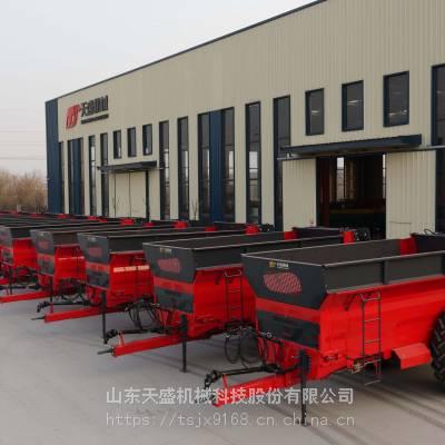 厂家直销自走式有机肥撒肥机撒粪机的做法天盛机械