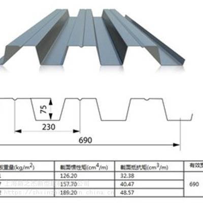 安阳市YX75-230-690型开口楼承板_建筑楼面钢承板厂家