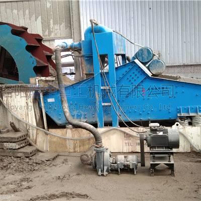 水洗砂脱水处理-洗砂生产线报价