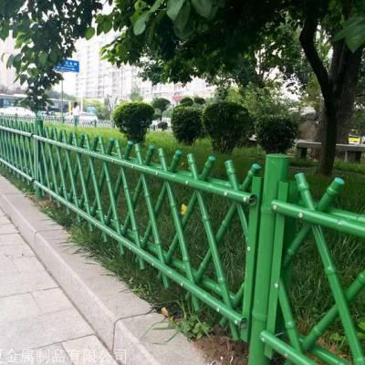 四川仿竹节护栏厂家景区仿竹木不锈钢篱笆围栏园艺围栏网