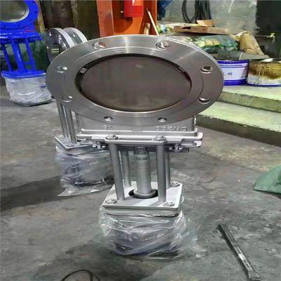 洗煤厂专用刀闸阀PZ673H-10P DN150气动对夹刀型闸阀污水阀门气动渣浆阀 浆闸阀