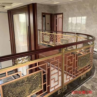 奢华的【黄铜楼梯护栏】价格【弧形铜楼梯栏杆】厂家