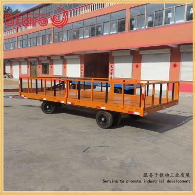 百达力欧直销平板拖车 青岛不锈钢无动力平板车 搬运