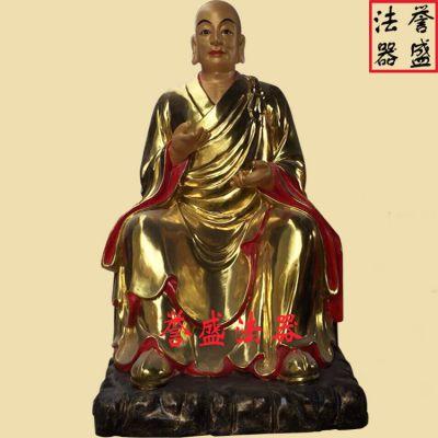 苍南誉盛法器 厂家直销彩绘佛像十八罗汉贴金佛像十八金刚