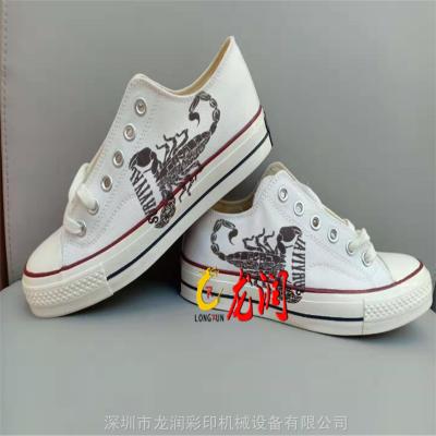晋江 椰子鞋面高落差数码uv喷绘机 成品鞋logo外侧高落差印花机