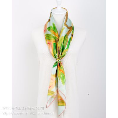 简约高档丝巾扣定制,空姐服饰配饰,广东丝巾扣生产厂